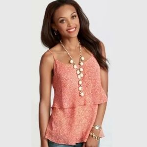 Cabi Tank Top Paprika Tiered Flowy Cami Blouse